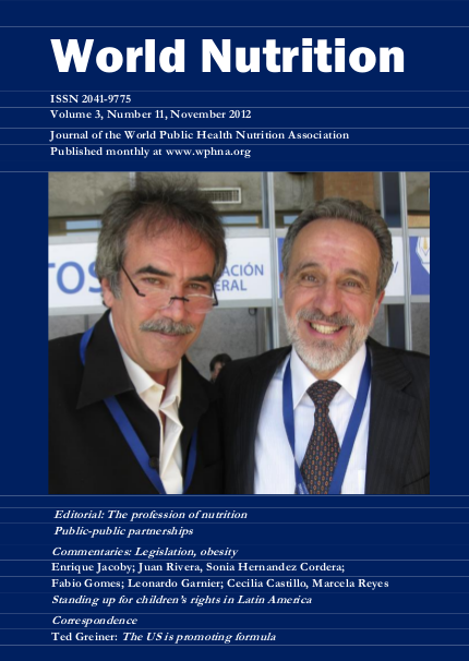 The profession of nutrition  Public-public partnerships | World